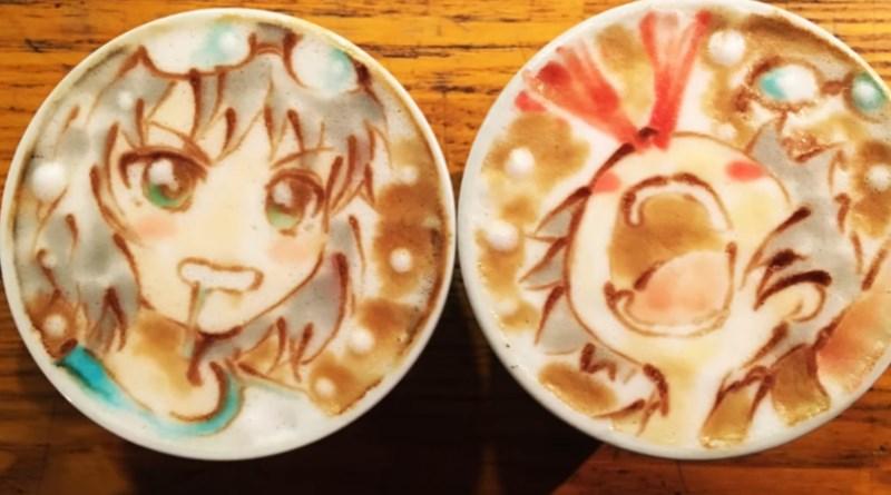 LatteArt im Anime-Stil