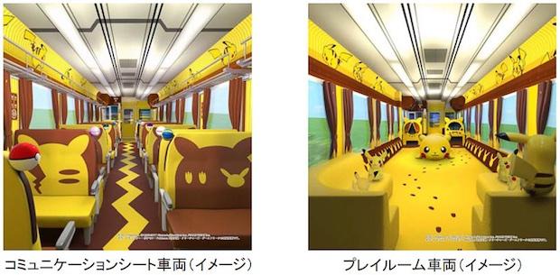 Pikachu Pokemon Zug Innen