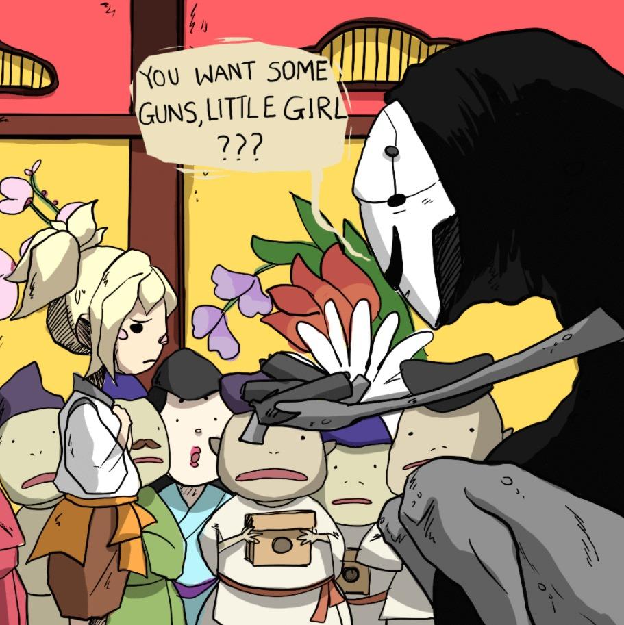 Mercy Anime Overwatch Ghibli Chihiro