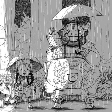 Junkrat Roadhogg Anime Overwatch Totoro