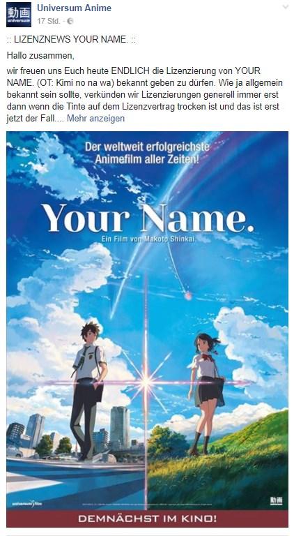 your name deutschland release
