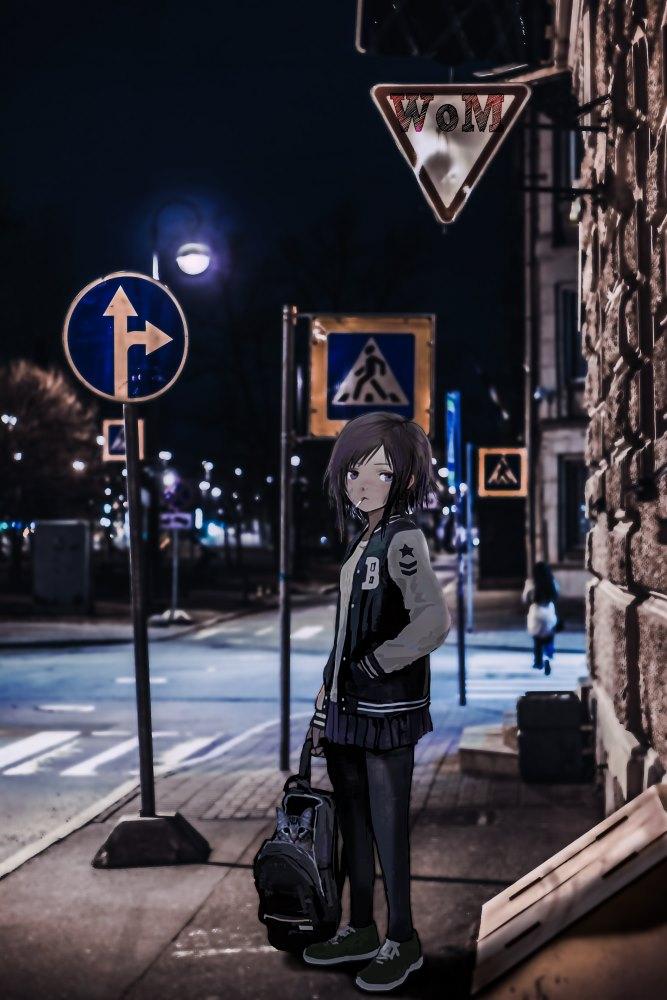 Anime Charaktere im Reallife: Straßenszene