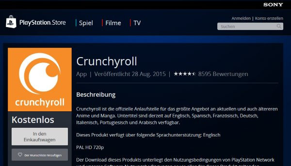 Playstation Network Sony Store Crunchyroll