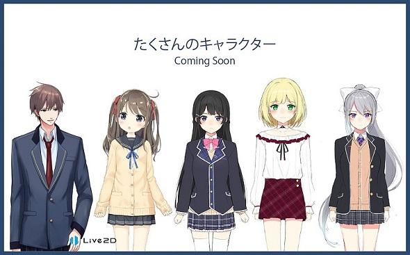 Anime 2D Charakter iPhone LIVE2D 1