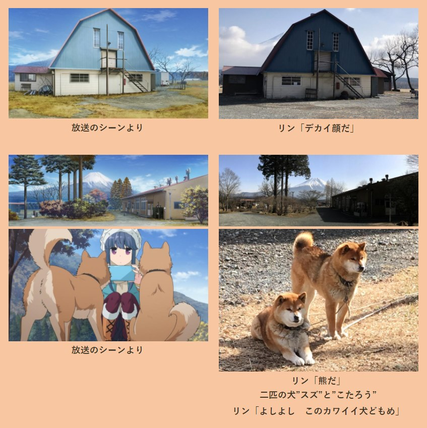 yuru camp vs reality 5