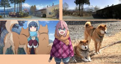 yuru laid-back camp anime vs RL